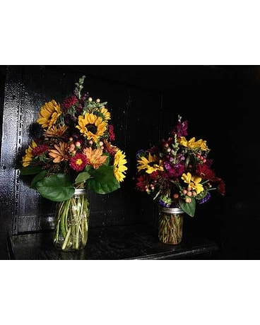 Harvest Mason Jar Bouquet