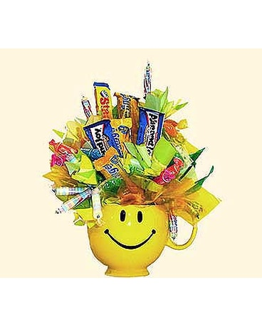 HAPPY FACE mug candy bouquet