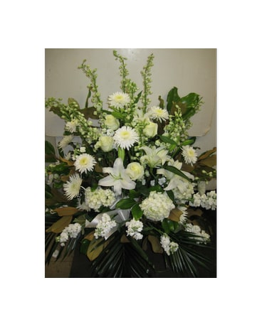 Funeral all white in blue bell pa country flower shoppe funeral all white mightylinksfo