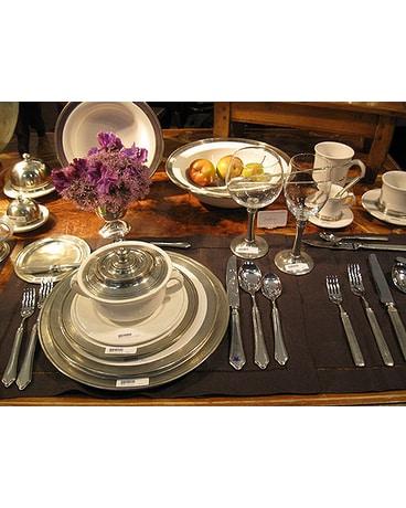 Pewter And Ceramic Tableware