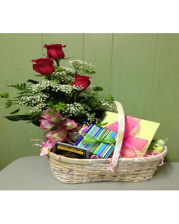 Quick View Gift Basket W Bud Vase