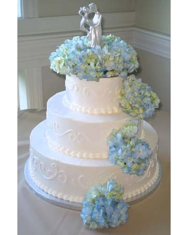 Blue Hydrangea Cake Flowers In Falmouth Ma Falmouth Florist