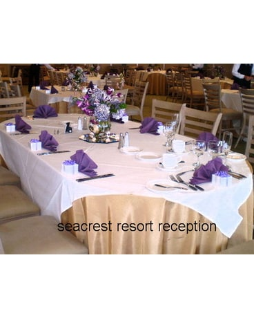 View of tables at Seacrest