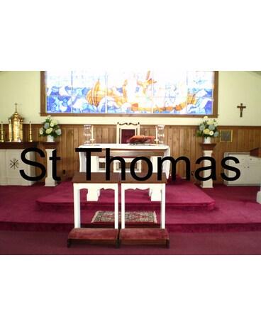 Altar Arrangement At St Thomas Chapel
