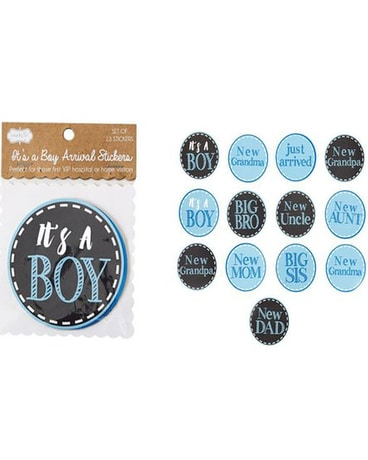 IT'S A BOY STICKER SET