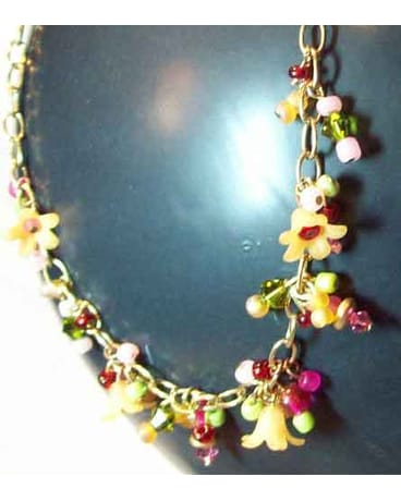 Garden Summer Flower Necklace