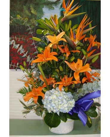 Sympathy - Exotic Basket Arrangement