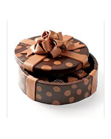 Polka Dot Chocolate Art Box