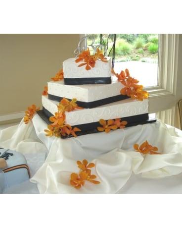 Quick View Orange Mokara Orchid Cake Decorations