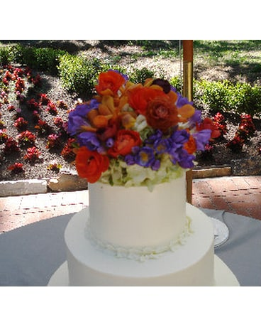 Quick View Fresh Flower Cake Topper
