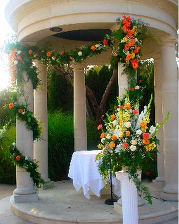 Outdoor Ceremony Gazebo Decorations In Campbell Ca Jeannettes