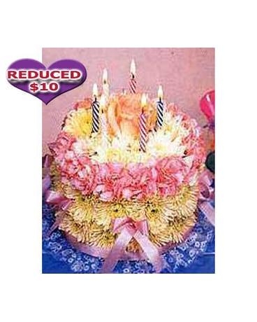 Quick View Happy Birthday Flower Cake