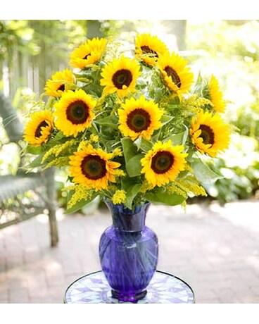 Sunflower Vase Arrangement In Hollister Ca Precious Petals
