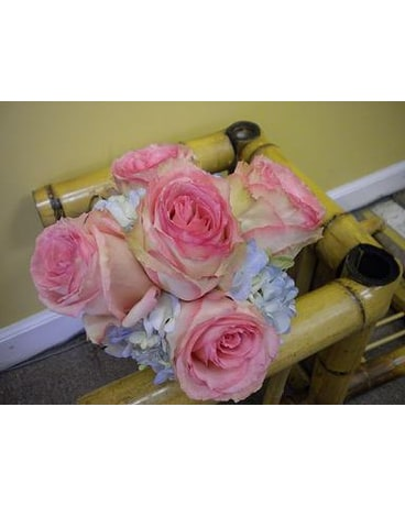 Custom wedding bouquets delivery bensenville il the village flower quick view pink and blue bouquet mightylinksfo