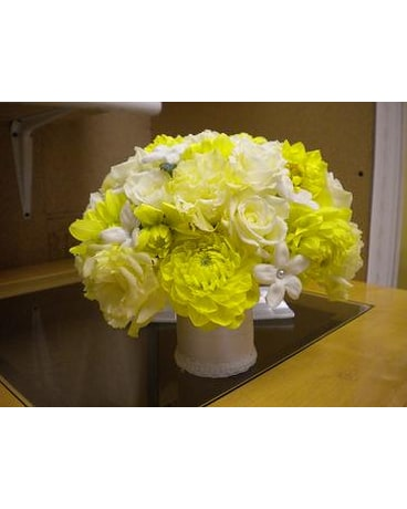 Custom wedding bouquets delivery bensenville il the village flower quick view simply yellow bridal bouquet mightylinksfo