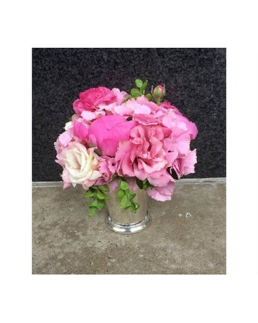 Pink lemonade in julep cup in bellevue wa city flowers inc pink lemonade in julep cup mightylinksfo