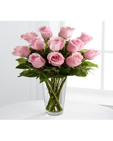 Quick View FTD Long Stem Pink Roses Bouquet