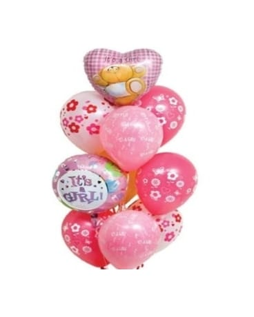 Quick View Baby Girl Balloon Bouquet