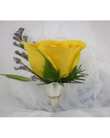 Sunny Yellow Boutonniere In Raleigh Nc North Raleigh Florist