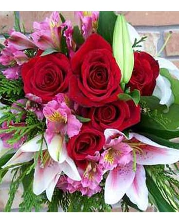 Pink and Red Cut Flower Bouquet