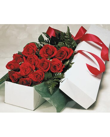 One Dozen Premium Boxed Roses