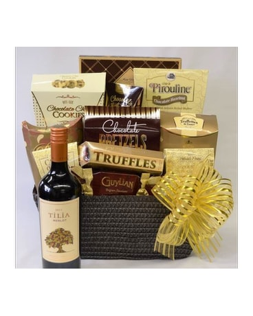 Wine and Chocolates Gourmet Basket
