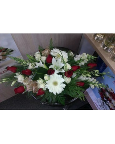 White & Red Centerpiece Was 120.00