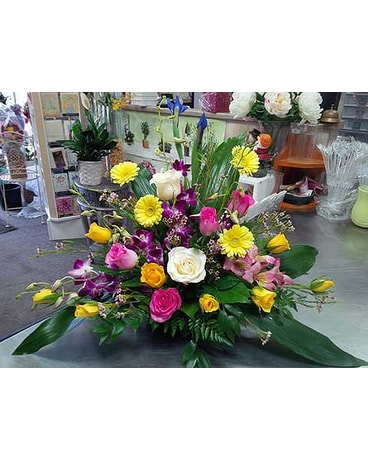 Container Arrangement with Spring Flowers