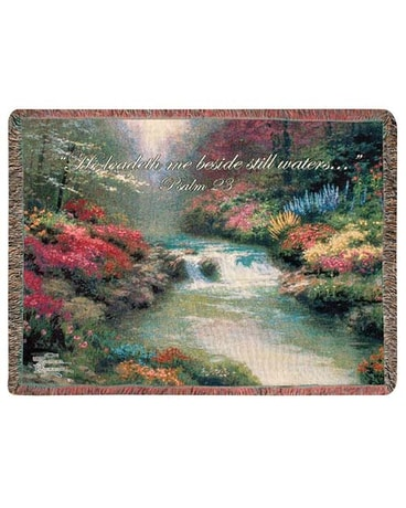 Thomas Kinkade Throw, Still Waters Tapestry Throw