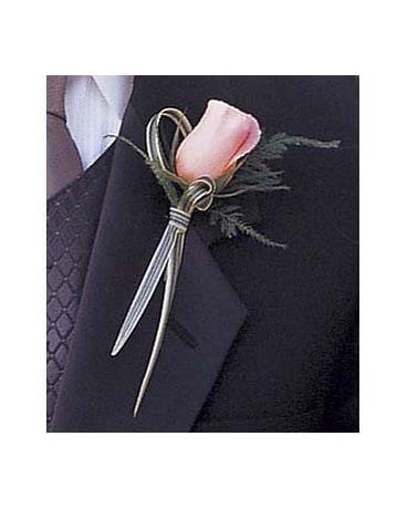 Peach Promise Boutonniere
