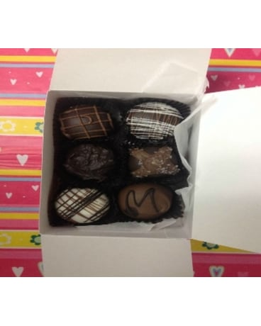 6 Piece Gourmet Chocolate Truffles