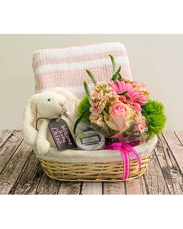 Medium Pink Baby Basket