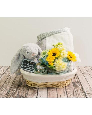 nouveaux styles e3635 9288d Medium Blue Baby Basket in Houston TX - The Empty Vase of ...
