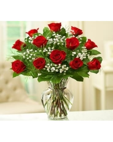Rose Elegance - Dozen Premium Long Stem Red Roses