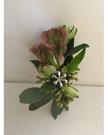 Purple & Green Boutonniere