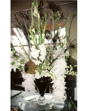 Glamorous Arrangement with Boa