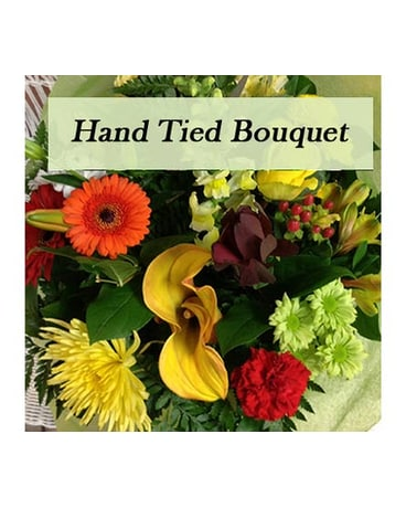 Hand Tied Bouquet Orange