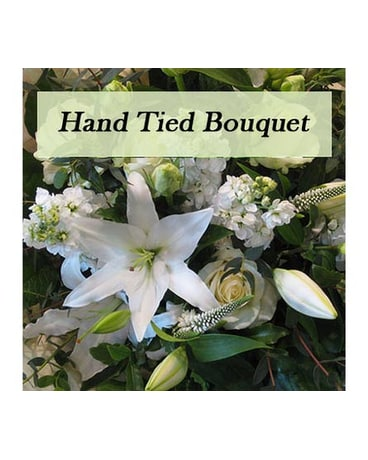 Hand Tied Bouquet White