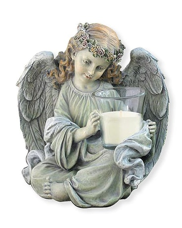 Sitting Angel Candle Holder