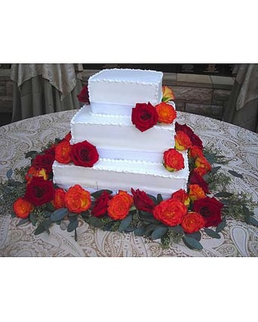 Quick View Cake Roses Fall