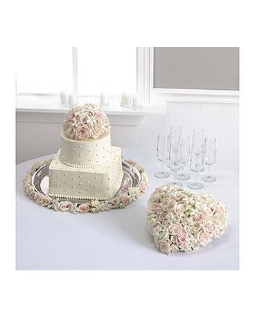 Rose And Stephanotis Cake Decoration Heart