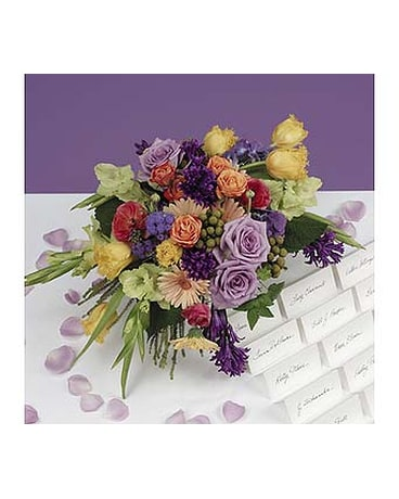 Magnificent Lavender Roses And Yellow Tulips Centerpiece In Nashville Tn Download Free Architecture Designs Estepponolmadebymaigaardcom