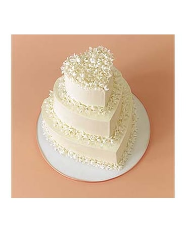 White Hyacinth Cake Decoration