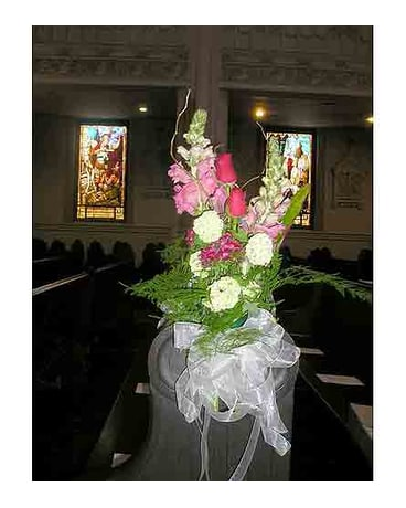 Flowers-Colorful-Pew-Decoration