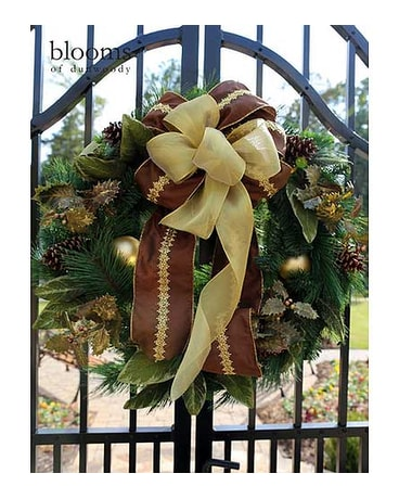 Golden Holiday Wreath