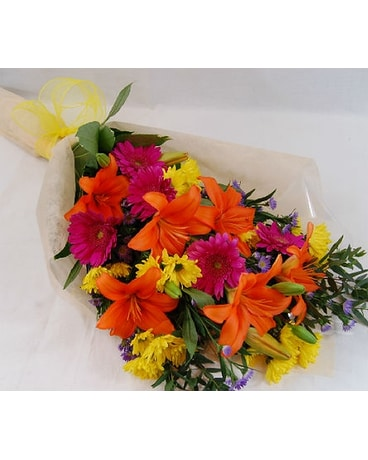 Wild Flowers Wrapped in Cellophane