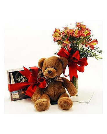 Teddy-Bear-Chocolates-Flowers-Trio