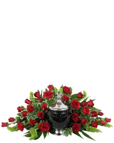 Signature Collection Red Rose Cremation Arrangement
