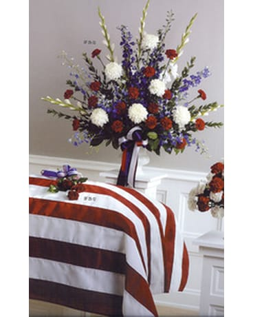 Red White And Blue Vase Arrangement In Owings Mills Md Raimondi S Flowers Fruit Baskets