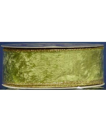 Green Velvet with Gold Trim
